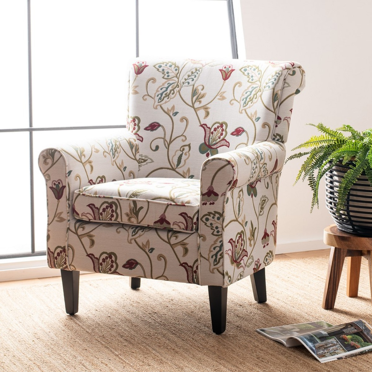 Red And White Accent Chair Mcr1002a Accent Chairs Furniture By Safavieh
