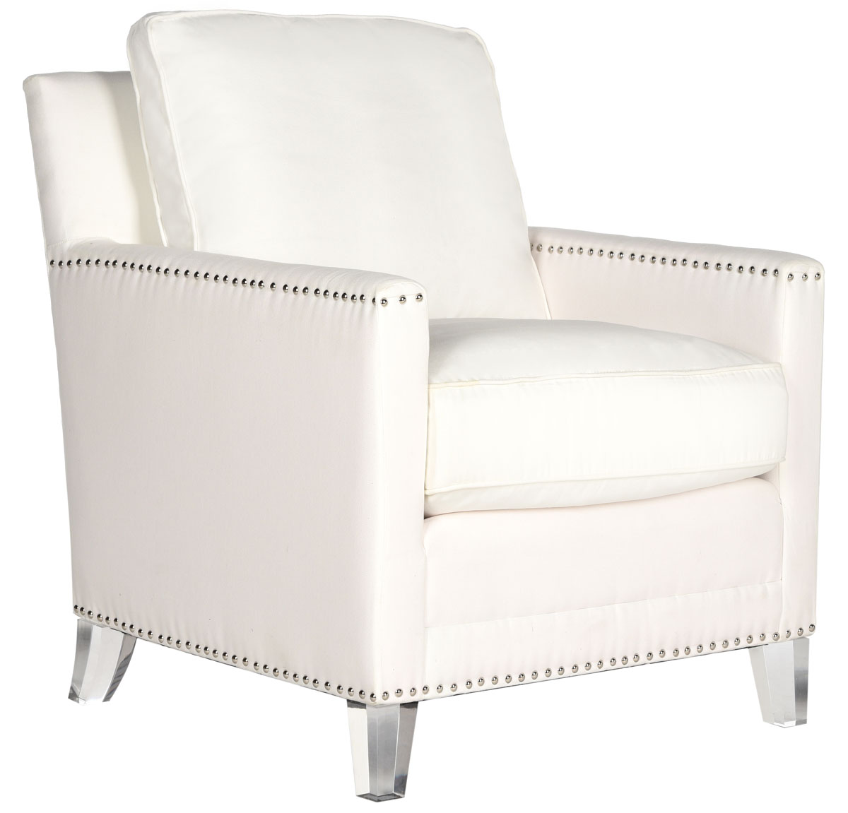 white club chairs master gym fitness chair mcr4213a accent furniture by safavieh hollywood glam tufted acrylic w silver nail heads design