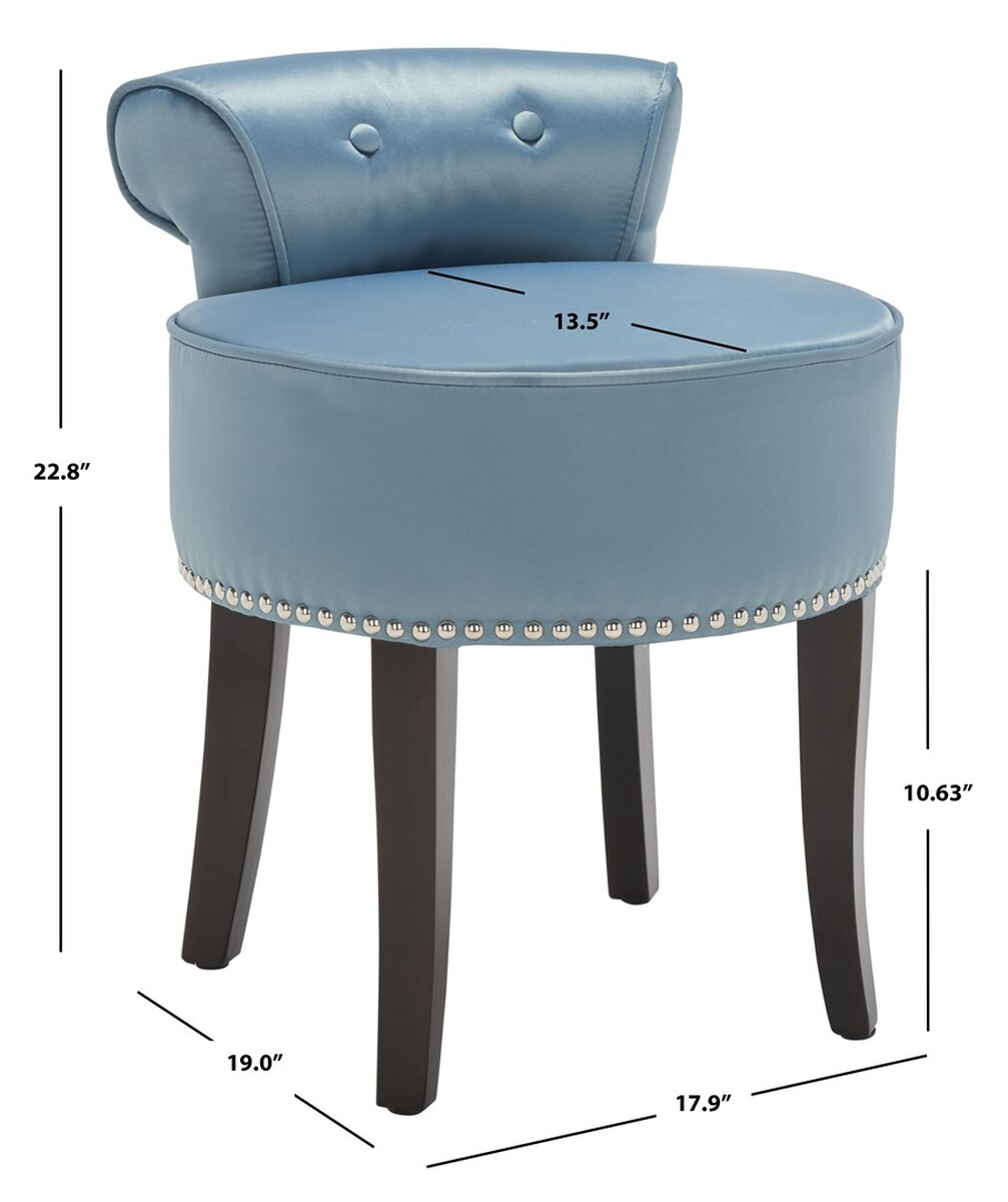 Tufted Vanity Chair Mcr4546s Vanity Stools Furniture By Safavieh