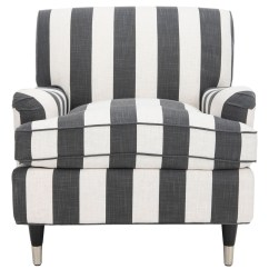 Black And White Accent Chairs With Arms Double Papasan Chair Ikea Striped Armchair Safavieh Com Share This Product