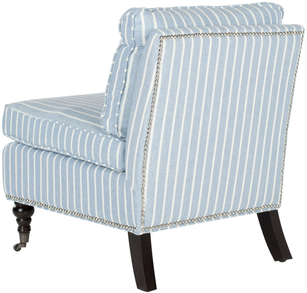 Blue And White Striped Chair Mcr4584g Accent Chairs Furniture By Safavieh
