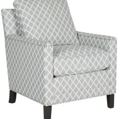 Grey And White Accent Chair Yellow Stool Buckler Armchair Chairs Safavieh