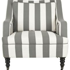 Blue And White Striped Accent Chair Used All Purpose Styling Chairs Mcr4652a Furniture By Safavieh