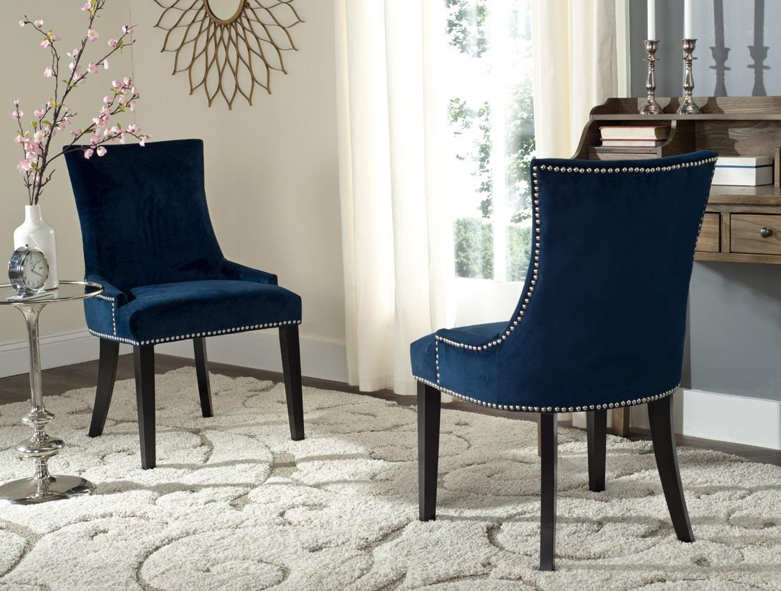 Navy Cushioned Dining Chairs  Safaviehcom