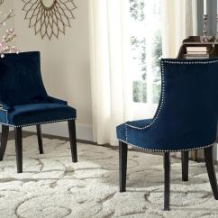 Navy Dining Room Chairs Ab Chair Exercises Cushioned Safavieh