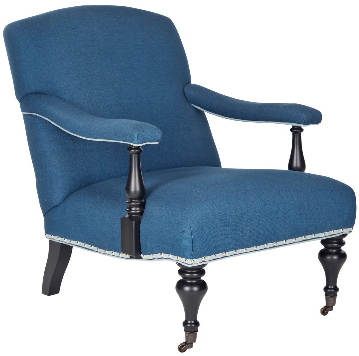 Blue Accent Chair With Arms Mcr4731a Accent Chairs Furniture By Safavieh