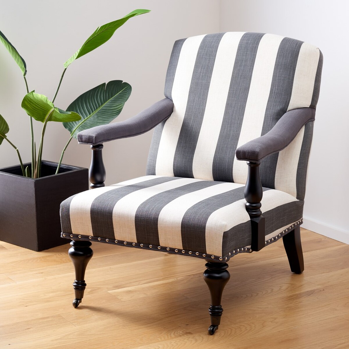 Black And White Striped Chair Mcr4731d Accent Chairs Furniture By Safavieh