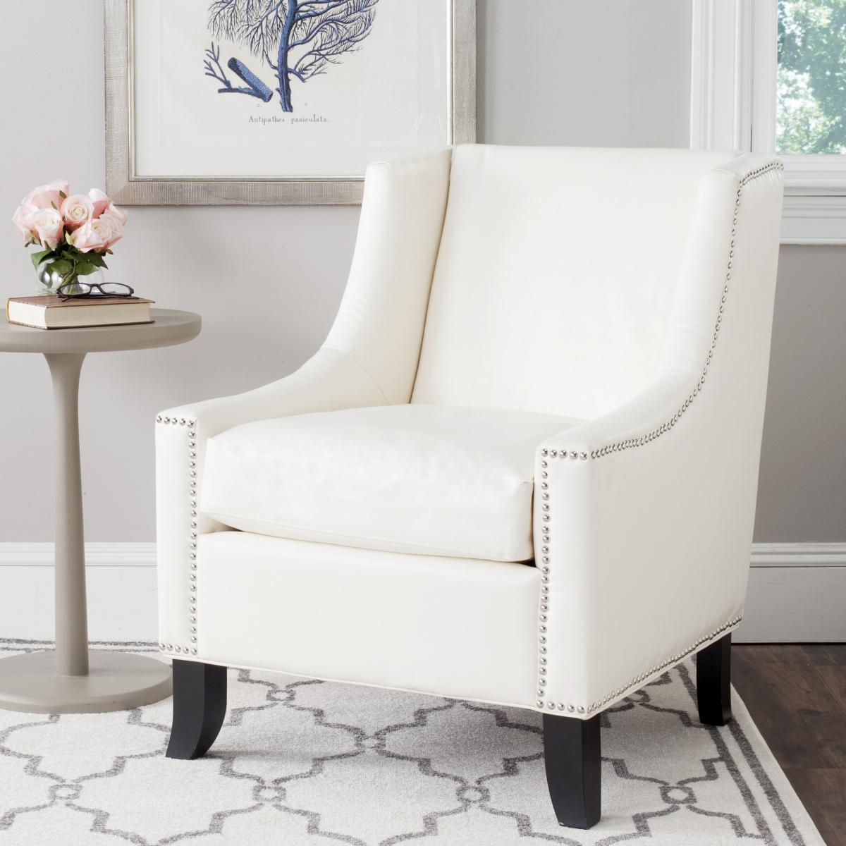 White Arm Chairs Mcr4733b Accent Chairs Furniture By Safavieh