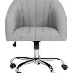 Desk Or Chair Task Stool Chairs I Office Computer Safavieh Com Themis Linen Chrome Leg Swivel Item Och4503a Color Grey