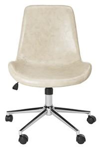 contemporary office chairs walmart baby rocking chair desk i computer safavieh com fletcher swivel item och7501b color beige chrome