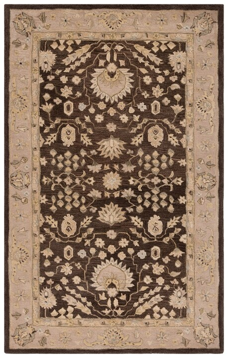 navy blue and chocolate brown living room wall lighting ideas traditional rugs | anatolia collection ...