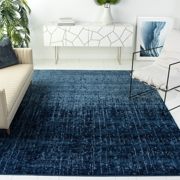 Blue Retro Rug Rugs Collection