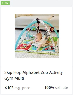 Success rate for Skip Hop activity gym