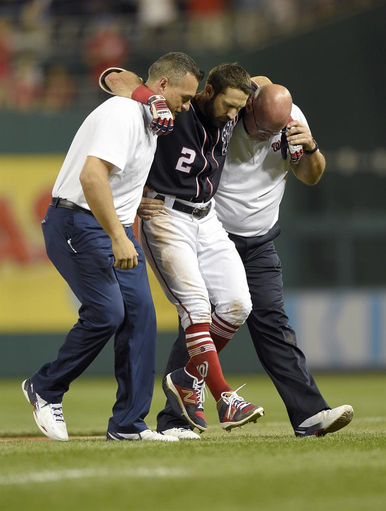 AP Source Nationals CF Eaton Out For Season With Hurt Knee 1520