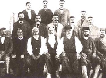 Κρητικοί στη Συνέλευση μετά τη σύμβαση της Χαλέπας.