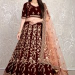 Buy Zari Velvet Lehenga Choli Online 161699