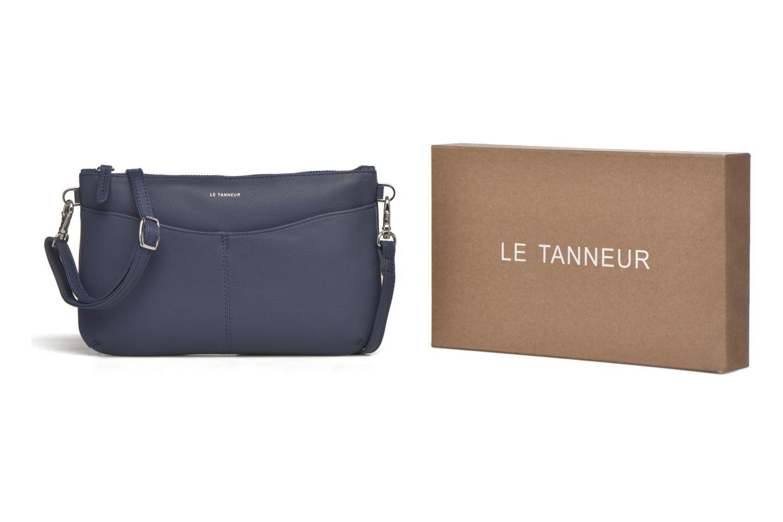 Le Tanneur VALENTINE Pochette Zippe Bleu Sacs