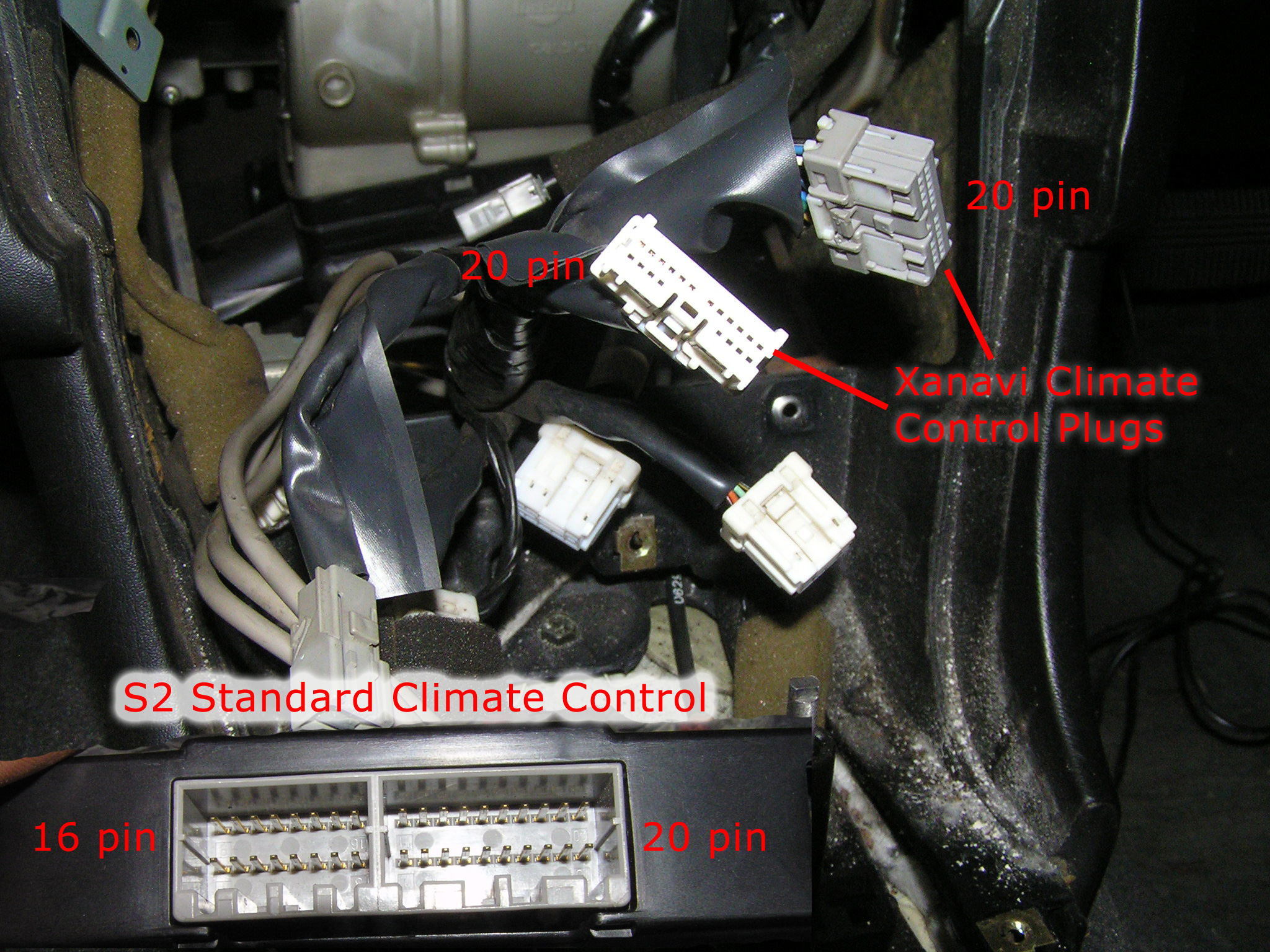 rb25det s2 wiring diagram f250 radio warning re standard climate control conversion