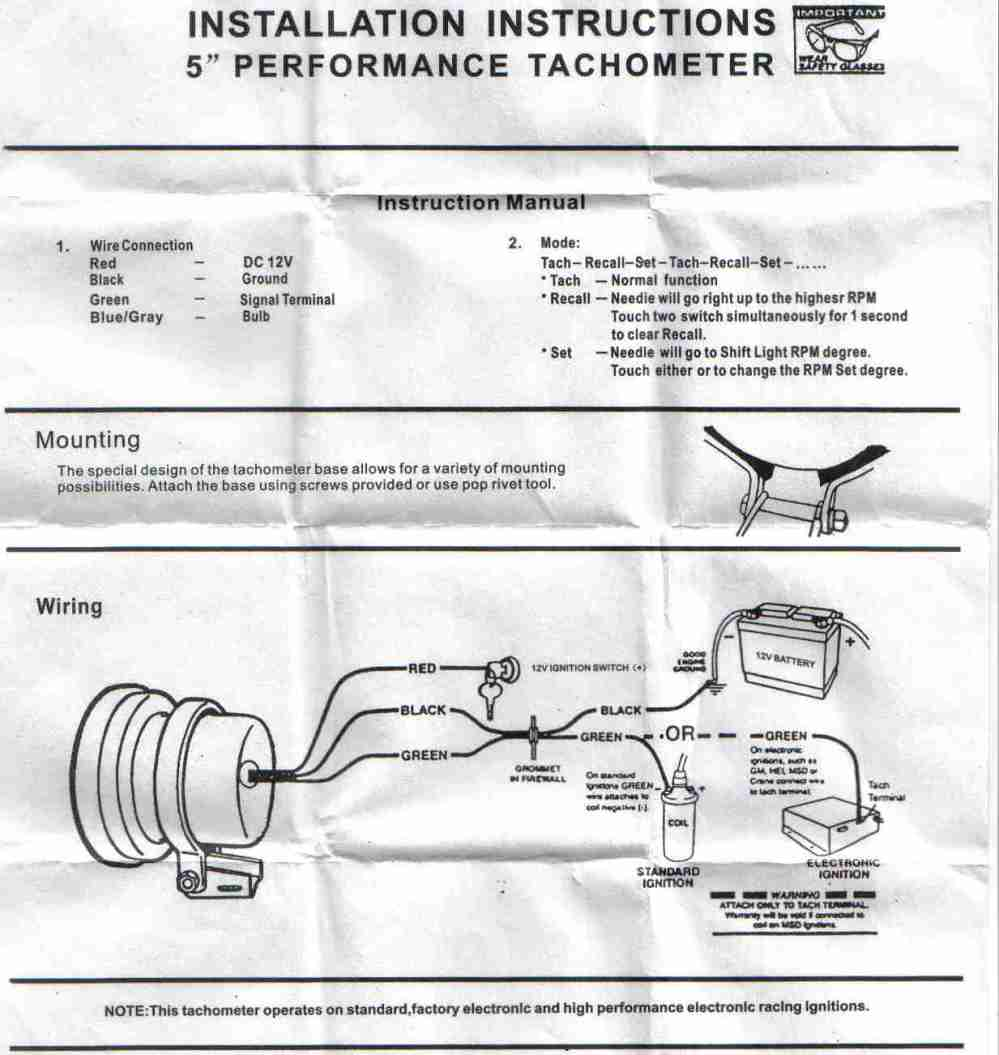 medium resolution of help wiring a monster tacho cosmetic styling respray sau tachometer wiring function