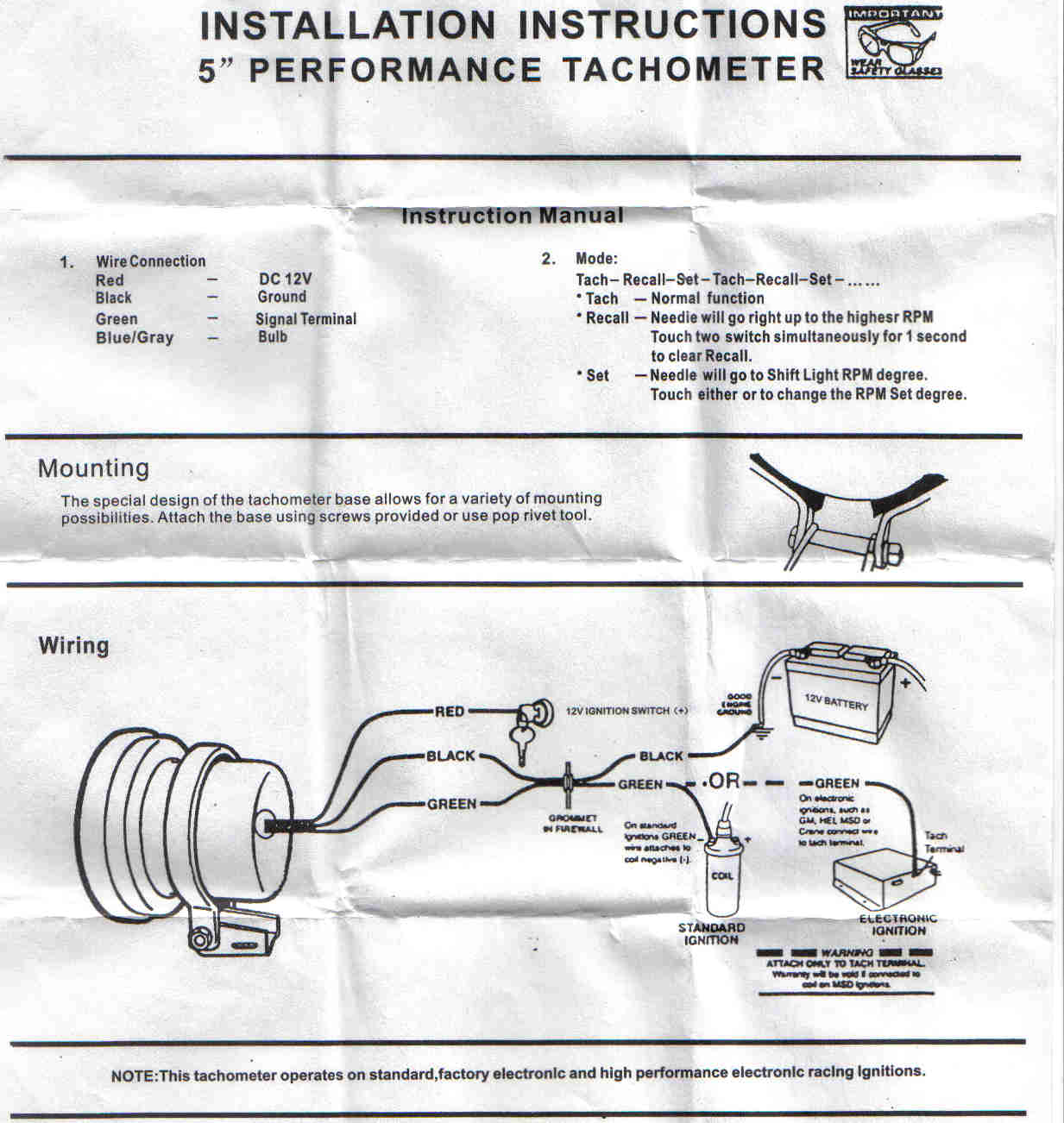 hight resolution of help wiring a monster tacho cosmetic styling respray sau tachometer wiring function