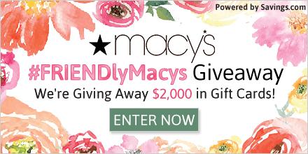Macy's $2,000 Giveaway