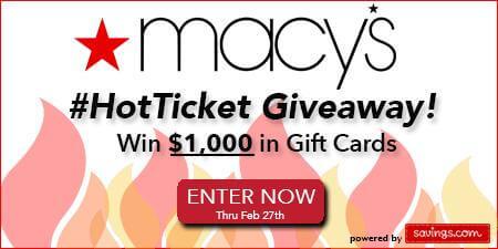 Macy's HotTicket Giveaway
