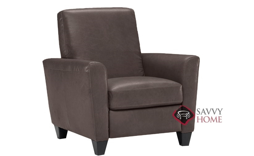 natuzzi lounge chair oak farmhouse chairs liro b592 leather reclining by is fully customizable recliner shown in belfast dark brown