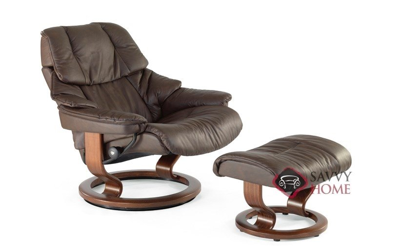 black leather sofa quick delivery blankets throws reno reclining chair by stressless is fully ...