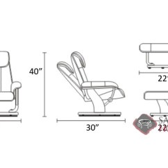 Stressless Chair Sizes Art Deco Dining Magic Leather Reclining By Is Fully Customizable Medium Recliner Diagram