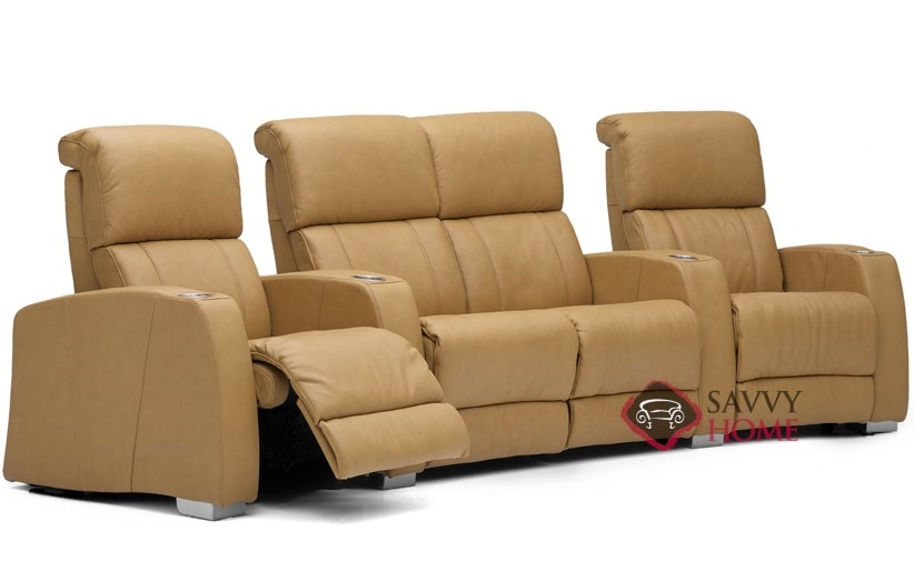 Hifi Leather Reclining Sofa by Palliser is Fully