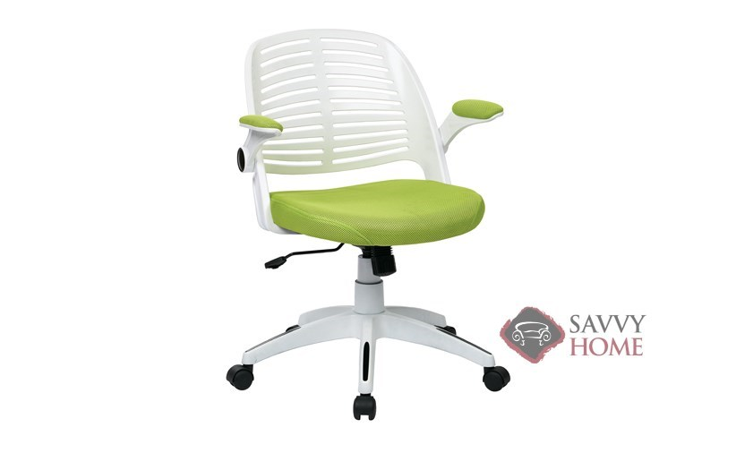office star chairs fishing chair kit tyler mesh back by ave six of in green w6