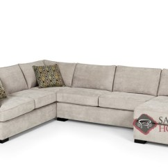 U Sofa Sofas Sectional 146 Fabric Sleeper True By Stanton Is Fully The Shape Queen In Bennett Moon