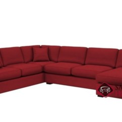 Sectional Sofa U Shaped Denim Jcpenney 146 Fabric Sleeper Sofas True By Stanton Is Fully The Shape Queen In Bennett Red