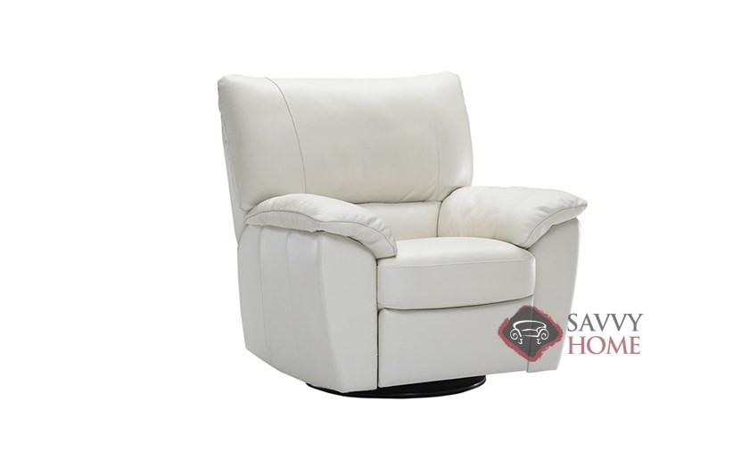natuzzi lounge chair salon shampoo chairs trento manual reclining leather by editions in le mans b632 004 white