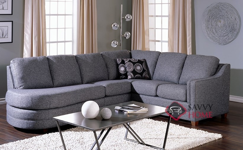 angled sectionals sofas sofa ashley modelo barcelona corissa fabric stationary chaise sectional by palliser is ...