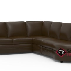 Angled Sectionals Sofas 4 Seater Sofa Cover Corissa Leather Stationary Chaise Sectional By Palliser Is Fully With Bumper