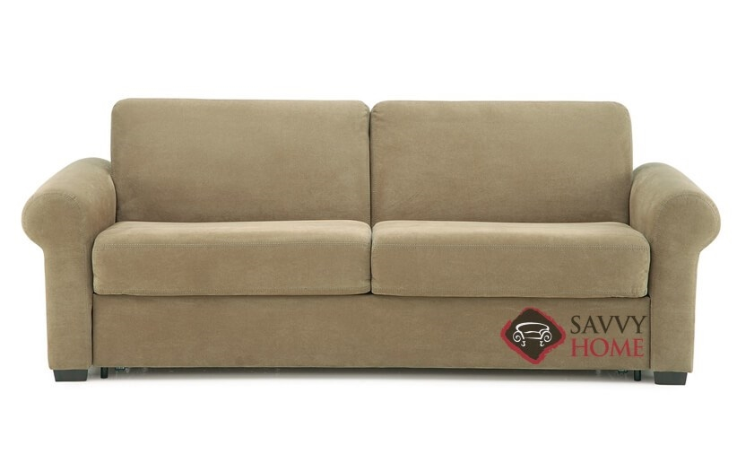 queen sleeper sofa memory foam mattress le corbusier lc3 review sleepover fabric sofas by palliser is fully my comfort 2 cushion in echosuede cappuccino
