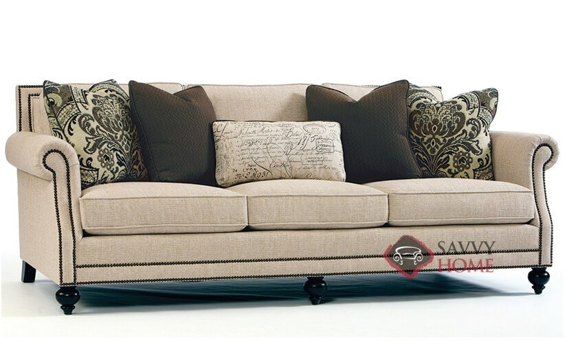 bernhardt sofas shallow under sofa storage brae by fabric stationary is fully with down blend cushions in 1058 200