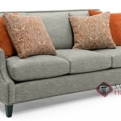 Bernhardt Sofas Wooden Frame Sofa Quick Ship Crawford By Fabric Stationary Studio In With Down Blend Cushions 2832 011
