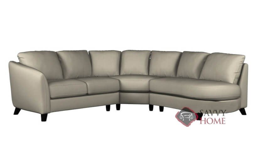 angled sectionals sofas leather sofa design living room alula stationary chaise sectional by palliser is fully large