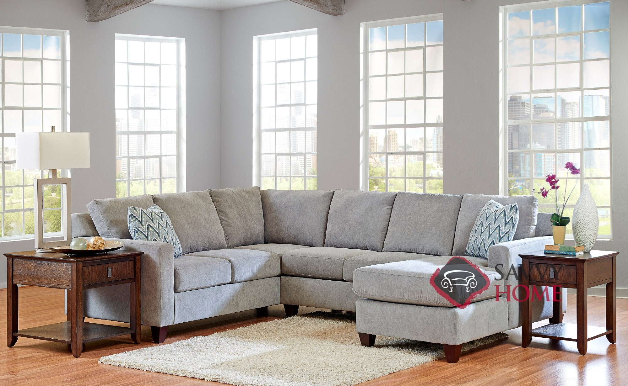 sofas u love burbank sofa retratil reclinavel 1 lugar fabric stationary true sectional by savvy is fully