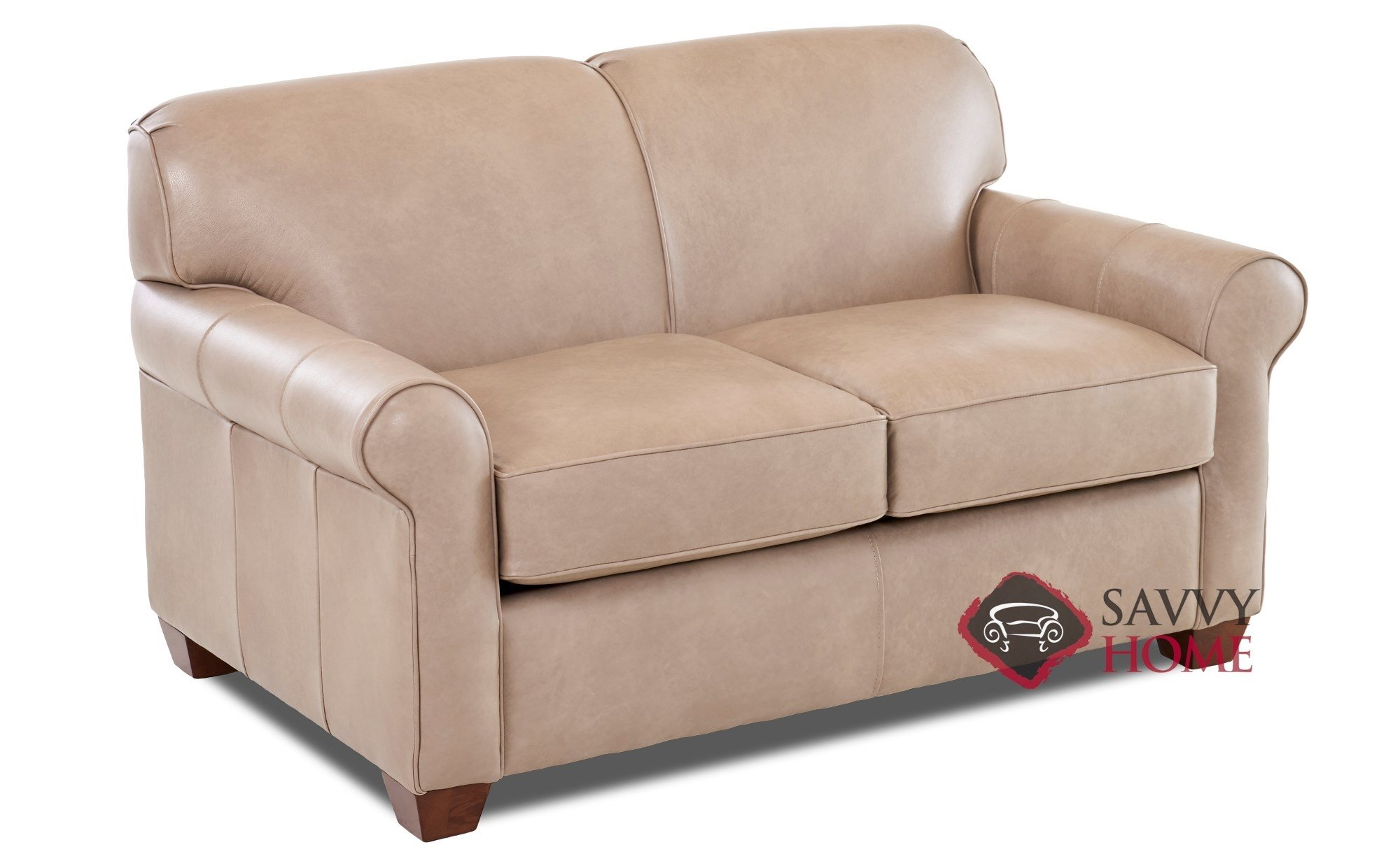 Calgary Leather Sleeper Sofas Twin By Savvy Is Fully