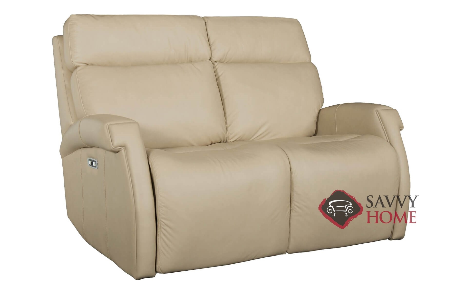 two cushion power reclining sofa intex air bed review quick ship maddux by bernhardt leather loveseat