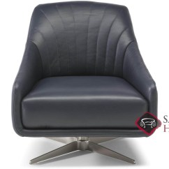 Natuzzi Swivel Chair Crate And Barrel Folding Chairs Felicita C014 Leather Stationary By Is Fully 066