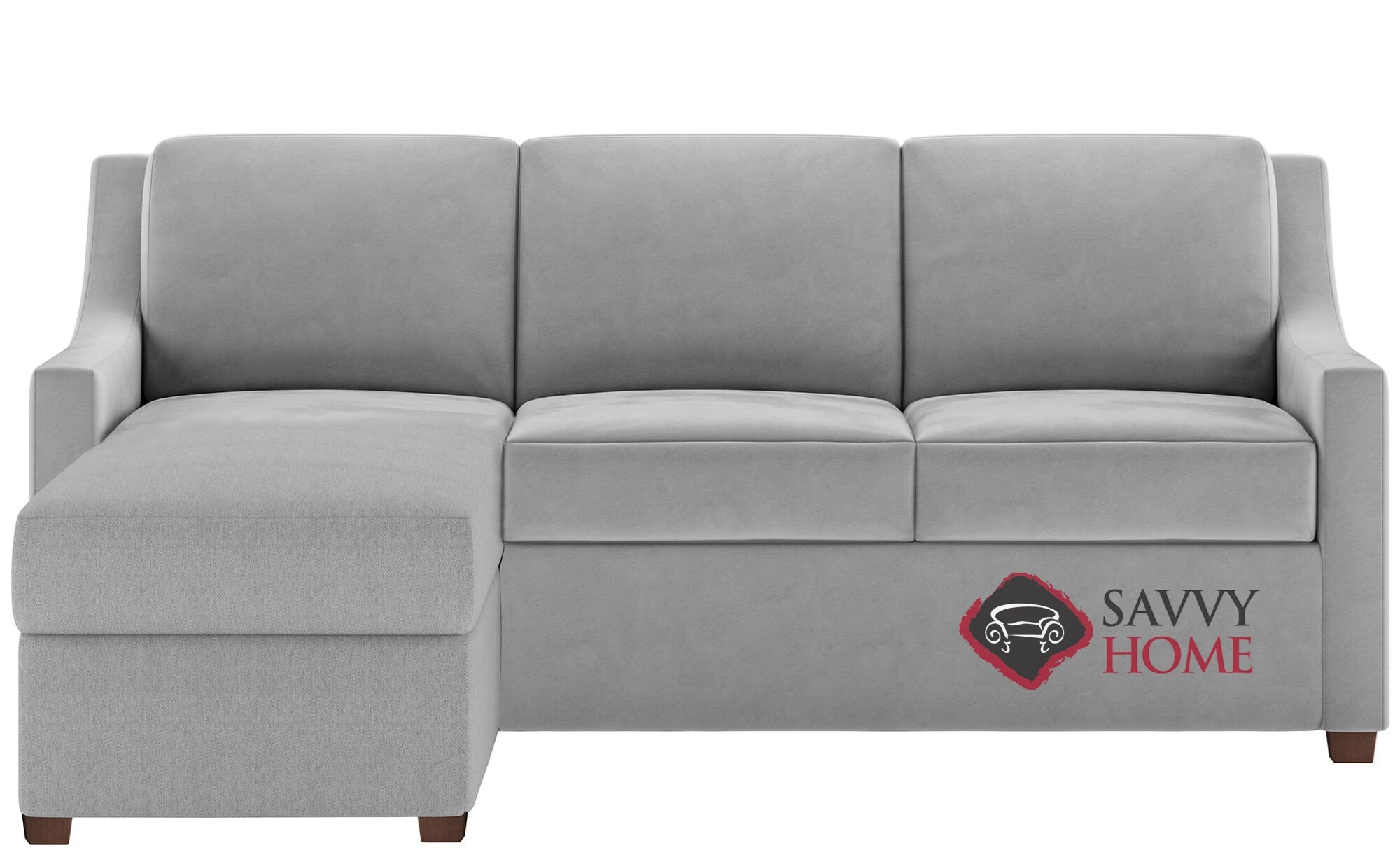 perry low leg queen plus with chaise sectional leather comfort sleeper by american leather generation viii