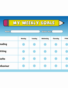 Weekly goals  reward chart with stickers also rh schoolstickers