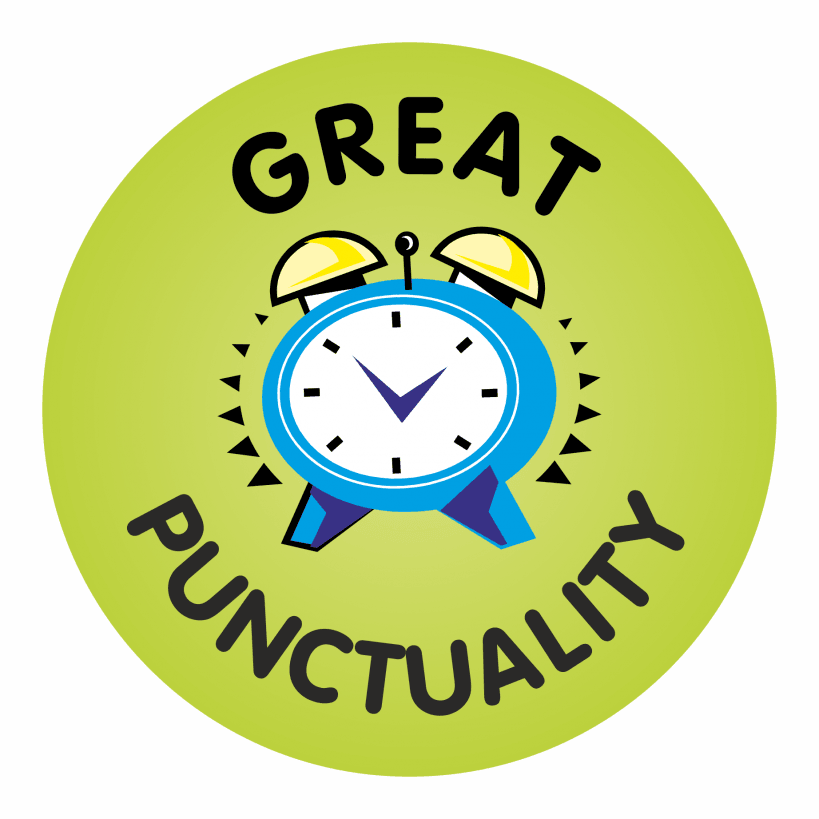 Great Punctuality Reward Praise Stickers
