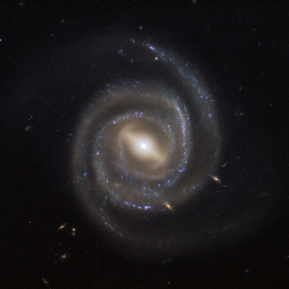 This image, captured by Hubble's Wide Field Camera 3, shows the megamaser galaxy UGC 6093. Image credit: NASA / ESA / Hubble.