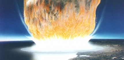 An artist's depiction of an asteroid impact. Image credit: Don Davis / NASA.