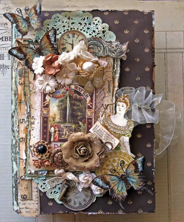 Layout Secret Garden Altered Book Box- Top View